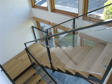 Glass Stair Banisters by Design Glass Stair Railing Types Glass Stair Railing