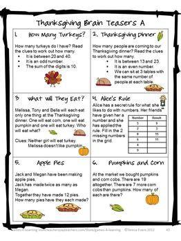 printable thanksgiving logic puzzles thanksgiving activities thanksgiving math games puzzles