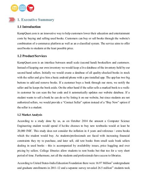 Bookstore Business Plan Template business plan for second book store