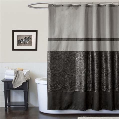 shower curtains black lush decor night sky black gray shower curtain home