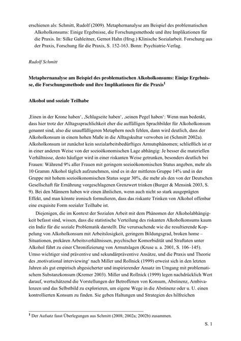 (PDF) Metaphernanalyse am Beispiel des problematischen