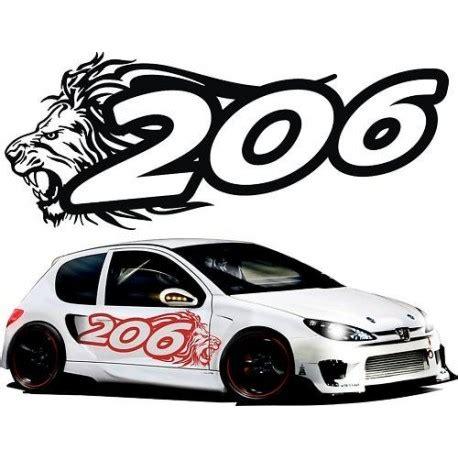 Lion Tuning Aufkleber by Adesivi Peugeot 206 Adesivi Auto Tuning 206 Stickers