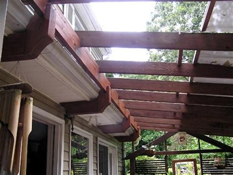 Attaching Pergola To Shingle Roof In Pergola Attached To Pergola Attached To Roof