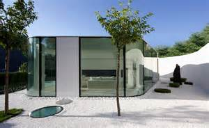 modern glass houses gently curved glass house modern design by moderndesign org