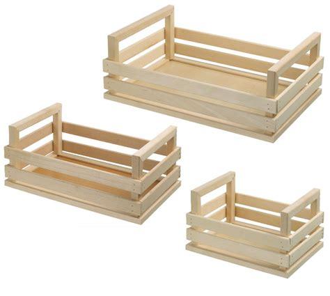 cassetta legno cassette in legno portaoggetti e piantine da interni new