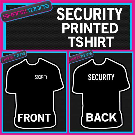 Tshirt Event Security security guard club doorman staff festival event