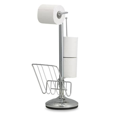 bathroom tissue holder stand toilet tissue stand and reserve holder