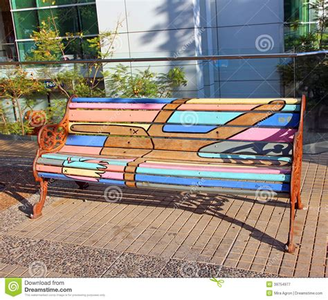 painted bench ideas painted bench editorial photography image of colors