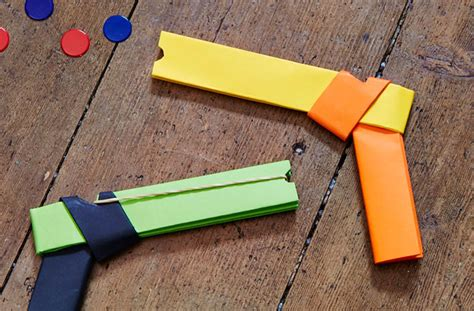How To Make A Paper Rubber Band Gun - how to make a paper gun that shoots goodtoknow