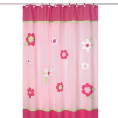 Pink Shower Curtains Fabric Pink And Green Fabric Shower Curtains Curtain Menzilperde Net