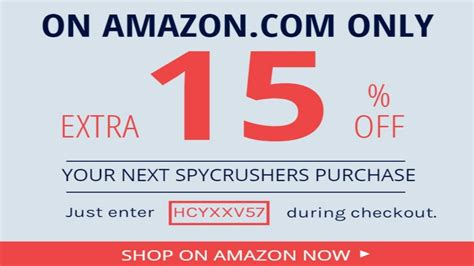 amazon discount code spycrushers 15 off store wide amazon coupon code youtube