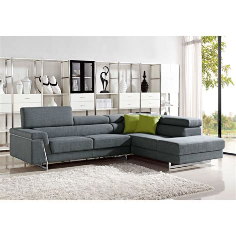 modern fabric sectional divani casa darby modern fabric sectional sofa set vig