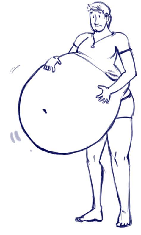 experimental belly inflation  brokencassette  deviantart