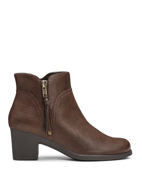aerosole boots aerosoles acrobatic boots in brown lyst