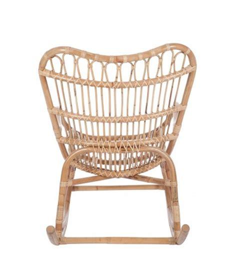 chaise rockincher fauteuil 224 bascule rocking chair en rotin naturel wadiga com