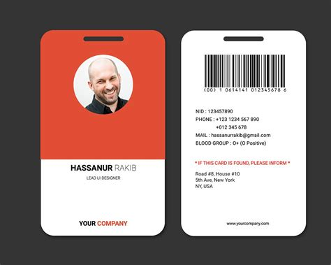 Id Card Layout Design