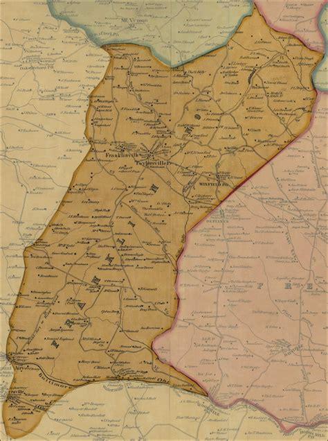 Carroll County Judiciary Search Simon J Martenet Map Of Carroll County 1862 District 9