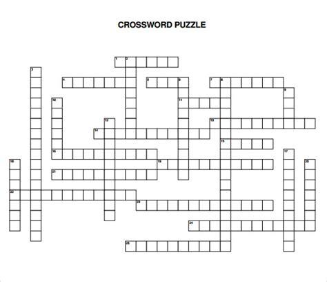crossword puzzle template free 10 blank crossword templates sle templates