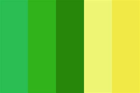 color palette yellow green and yellow day color palette