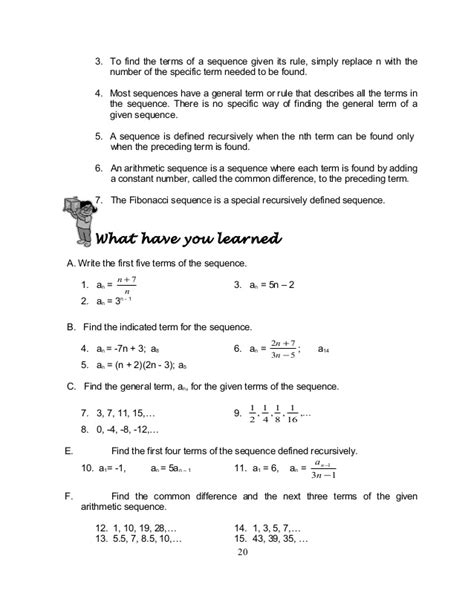 pattern term definition grade 10 math module 1 searching for patterns sequence