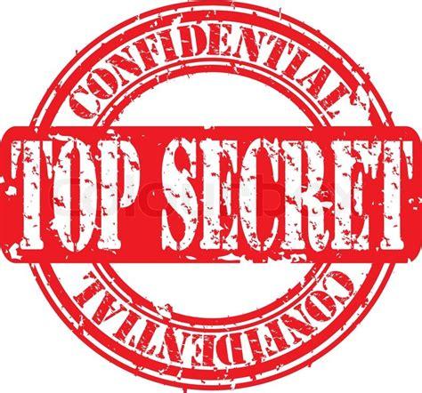 top secret rubber st grunge top secret rubber st vector illustration