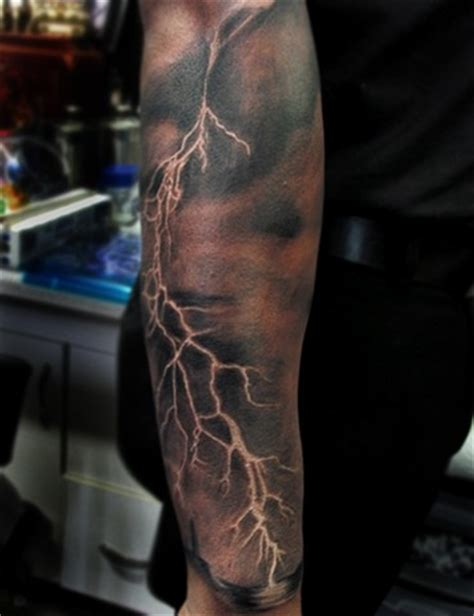 lightning strike tattoo tattoos by bodah