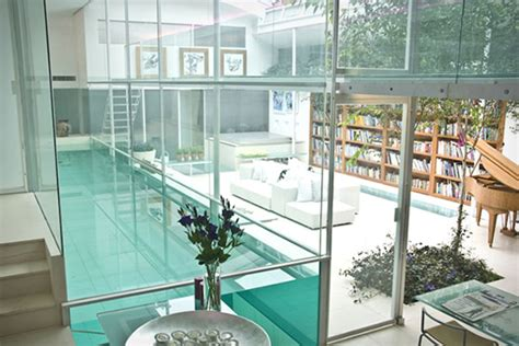 indoor pools in homes custom indoor glass swimming pool for contemporary home