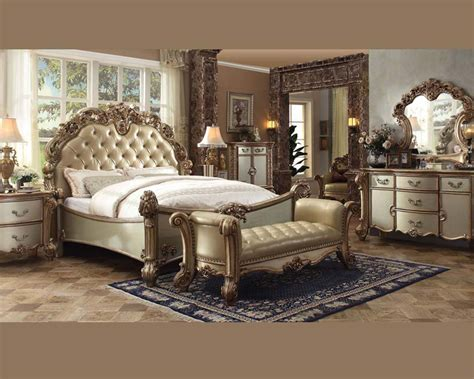 bedroom set vendome gold  acme furniture acset