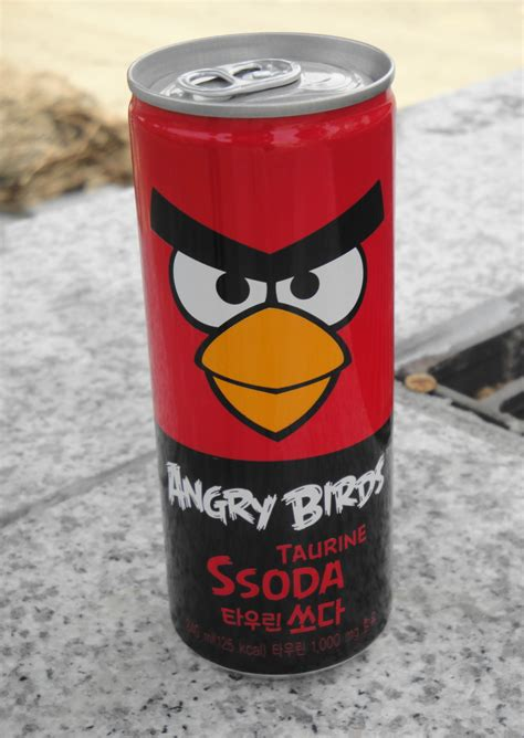 Taurine Also Search For Angry Birds Soda From South Korea Modern Seoul