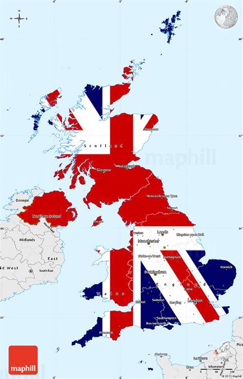 Kintakun Singel United Kingdom flag simple map of united kingdom single color outside borders and labels