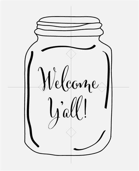 Crocus Lane Welcome Ya Ll Mason Jar Door Hanger Tutorial Templates For Wooden Door Hangers
