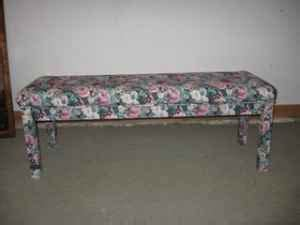 fabric covered bench a paige in history october 2010