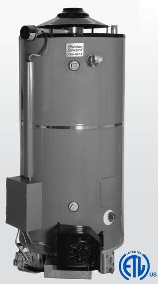 american standard water heater american standard ashuln100 270 as ultra low nox heavy duty commercial gas water heater 100