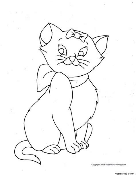 free coloring pages of cute cat girls