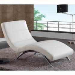 White Leather Chaise Lounge Global Furniture Usa R820 White Leather W Chrome Legs Chaise Lounge Ebay