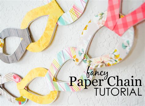 How Do You Make A Paper Chain - diy fancy paper chains project nursery
