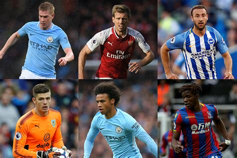 epl player of the month october 2017 premier league player of the month for october nominees