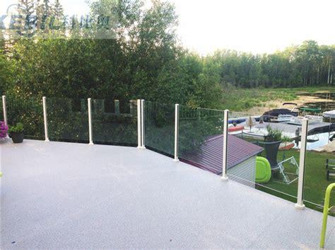 altezza ringhiera vetro di rivestimento di polvere di alluminio ringhiera
