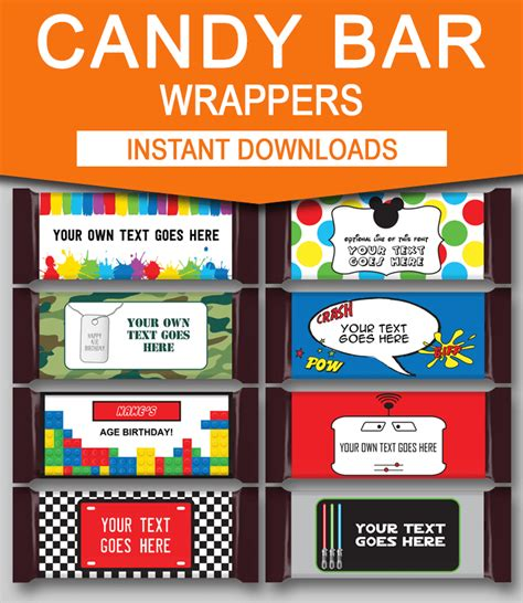 custom wrappers templates diy bar wrapper templates favors chocolate