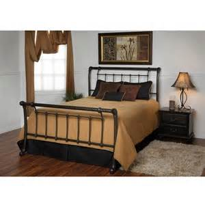 Metal Sleigh Bed Frame King Size Metal Sleigh Bed Frame In Marble Finish Affordable Beds