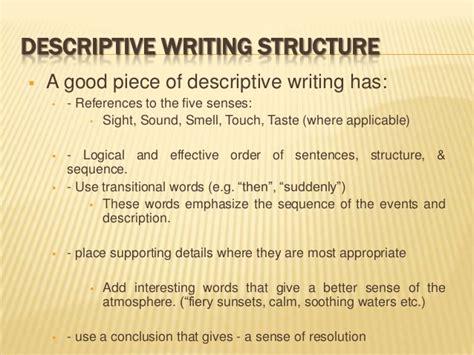 Descriptive Essay Structure by Bmc Language Composition N Level