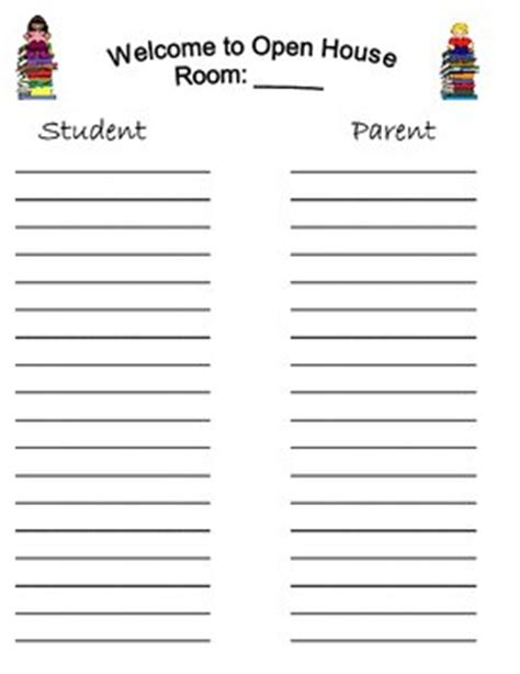 school open house sign in sheet sign in sheets open house back to school night by working 4 the classroom