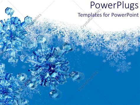Powerpoint Template 3d Snowflakes Blue And White Backgrounds Snow 13073 Microsoft Powerpoint Templates Snowflakes
