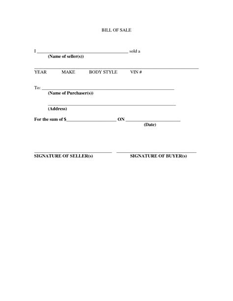 texas bill of sale form best photos of texas vehicle bill of sale template car