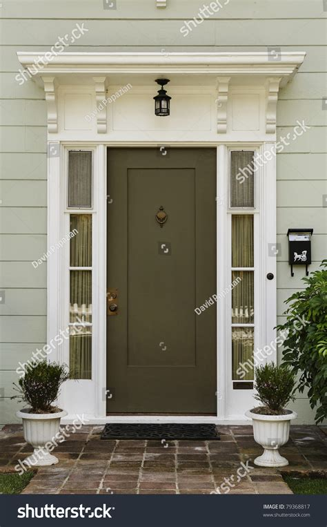 Front Doors For Homes With Glass Wooden Front Door Home Glass Panels Stock Photo 79368817