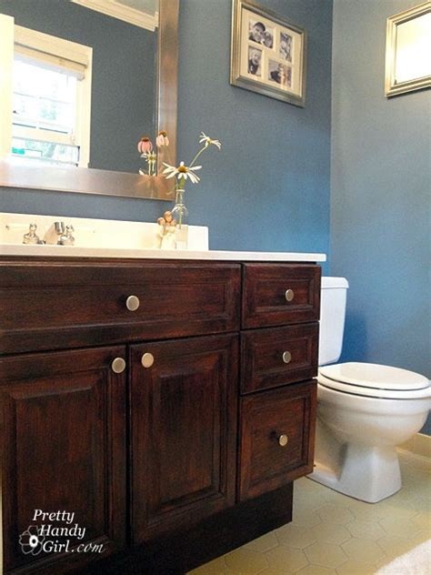 staining bathroom cabinets cabinet stain bathroom pinterest