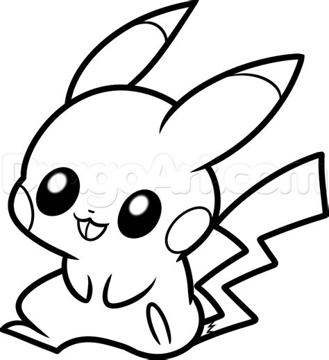 cute pikachu coloring pages chibi pokemon pikachu coloring pages image gallery