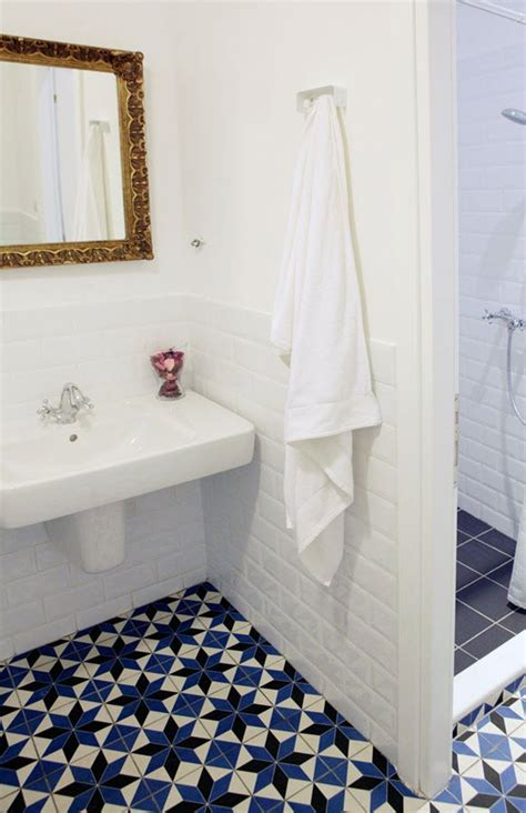 blue tile bathroom floor 36 blue and white bathroom floor tile ideas and pictures