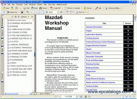 2014 mazda 6 wiring diagram and workshop manual