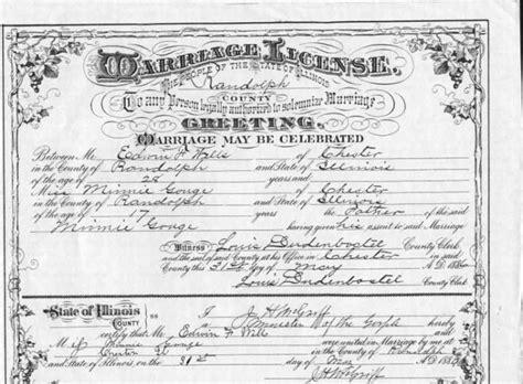 Randolph County Marriage Records Randolph County Il Usgenweb Archives